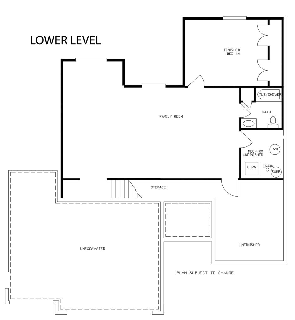 K k homes floor plan rosewood 1521 k k homes for Rosewood custom homes