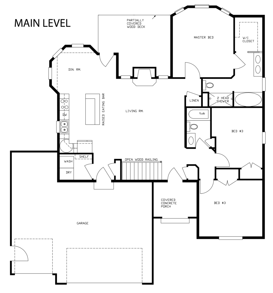 K k homes floor plan rosewood 1521 k k homes for Iowa home builders floor plans